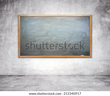 chalk board with chalk traces on wall