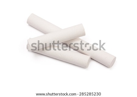 chalk isolated on white