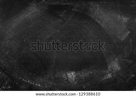 Chalk rubbed out on blackboard - stock photo