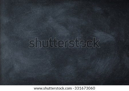 Chalk rubbed out on blackboard for background - stock photo