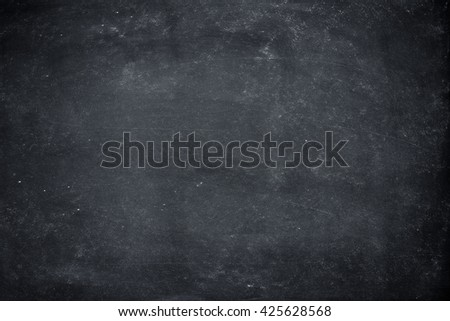 Chalk rubbed out on blackboard for background. grunge Chalk rubbed wall. Chalkboard Texture background for add text. copy-space for your design - stock photo