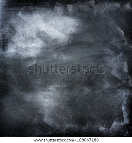Chalk rubbed out on board - stock photo