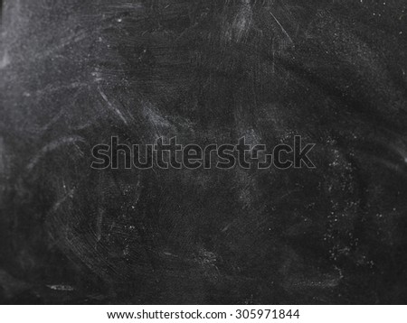 Chalk rubbed out on board