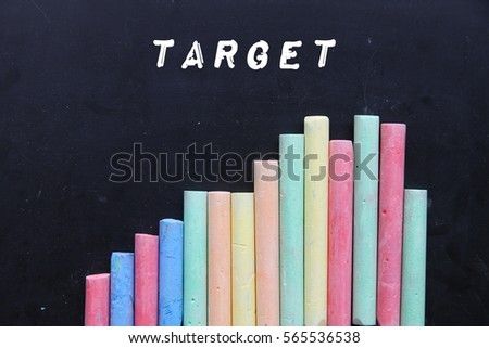 Chalk with blackboard and text target.