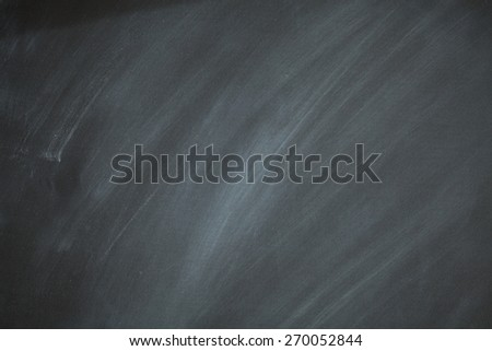 Chalkboard Background Retro Style Charcoal Gray Black Chalk Board with White Dust Eraser Marks - stock photo