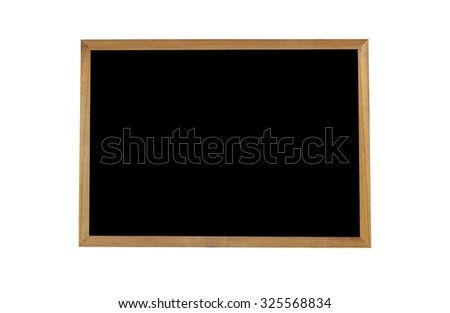 Chalkboard isolated on white background - stock photo