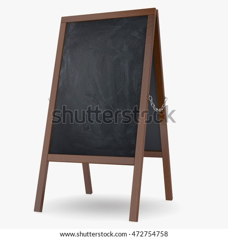 Chalkboard isolated on white background. 3D illustration