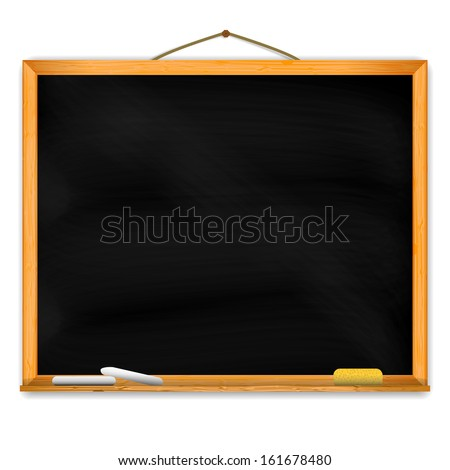 Chalkboard with space for your text. - stock photo