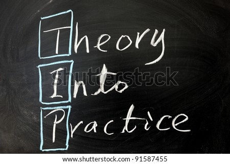 Chalkboard writing -Theory into practice