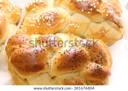 challah loaf  - stock photo