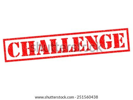 CHALLENGE red Rubber Stamp over a white background. - stock photo