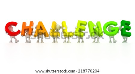 challenge team - stock photo