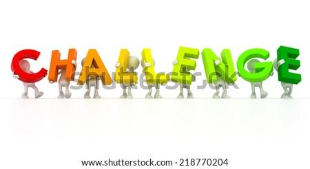 challenge team - stock photo
