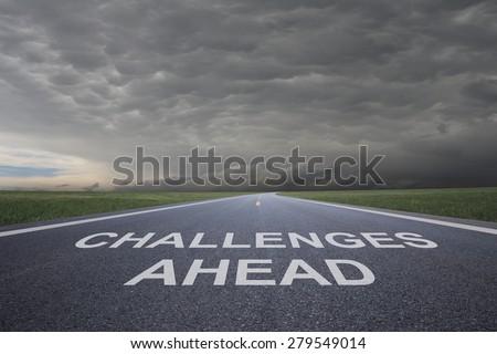 challenges ahead - stock photo