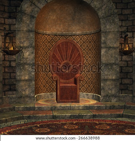 Chamber of throne - stock photo
