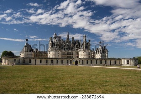 Chambord castle at Loire valley, France - stock photo