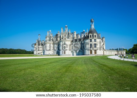 Chambord castle in Loire valley France  - stock photo