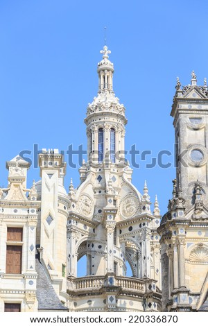 Chambord, France - June 14, 2014: The Castle of Chambord on June 14, 2014 in Chambord France. This beautiful castle is located in the Loire-et-Cher Department in the Centre Region