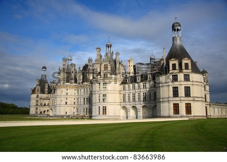 Chambord - the biggest french medieval castle (Loire Valley) - stock photo