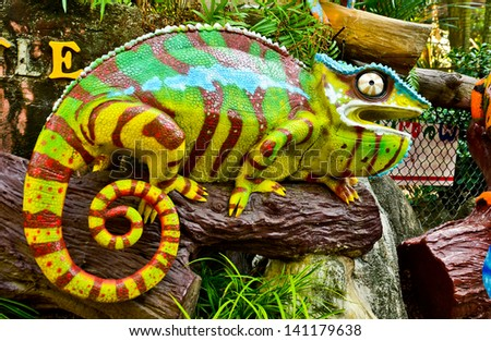 Chameleon - Furcifer Pardalis - stock photo