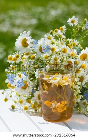 Chamomile tea - stock photo