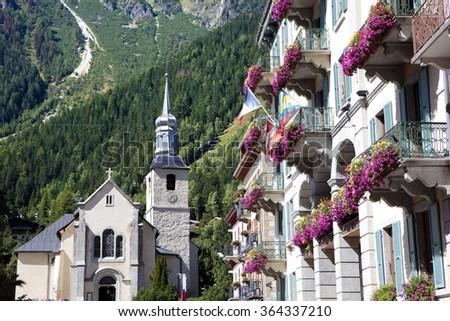 Chamonix Mont Blanc, French Alps, France - stock photo