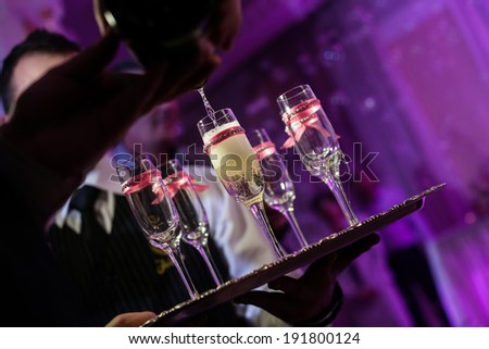 Champagne at the party - stock photo