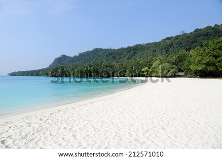 Champagne Beach, Vanuatu - stock photo