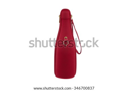 Champagne bottle in red jacket