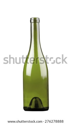 Champagne bottle isolated on a white - stock photo