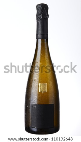 Champagne bottle Isolated on white background  - stock photo