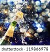 Champagne bottle. New year. - stock photo
