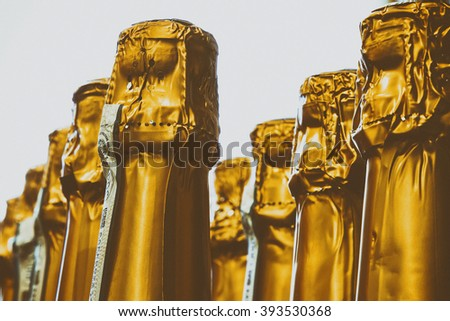 Champagne Bottle Tops - stock photo