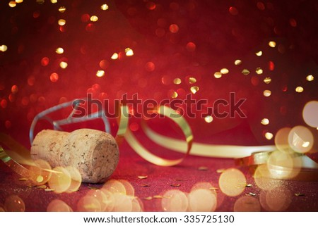 Champagne Christmas and New Year celebration - stock photo