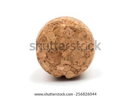 champagne cork on a white background