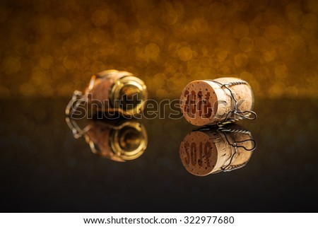 Champagne cork with 2016 New Year stamp