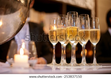 Champagne corner - stock photo