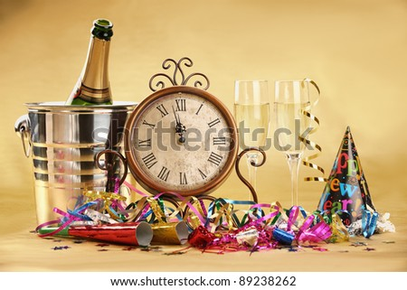 Champagne for New Year's Eve Celebration - stock photo