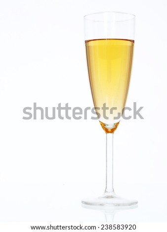 Champagne glass. glass champagne isolated
