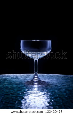 champagne glass on black use for multipurpose - stock photo