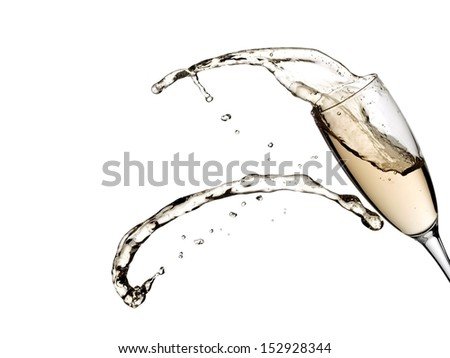 Champagne glass splash