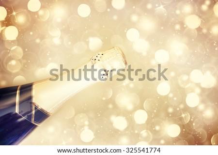 Champagne.New Year Celebration - stock photo