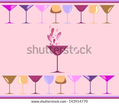 Champagne. Raster copy of vector image