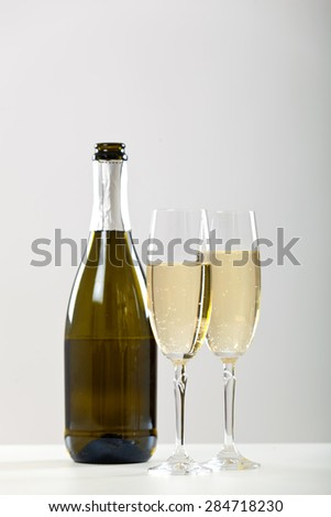 Champagne still life - stock photo