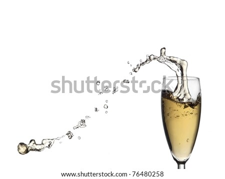 Champagne up and down drops