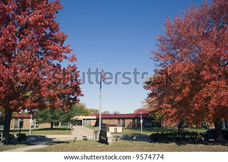 Champaign County administration building located in Urbana - Champaign, Il. - stock photo