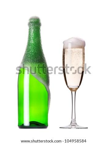 champaigne set - stock photo