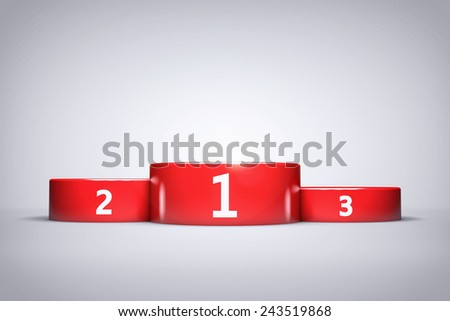 Championship Red Podium Background or Wallpaper  - stock photo