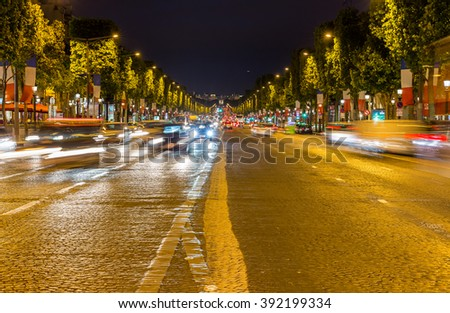 Champs Elysees in Paris, France - stock photo