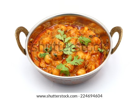 Chana Masala - Spicy chickpea curry  - stock photo